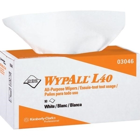 "Wypall L40 Wipers, Pop-Up Box, 10.8"" x 10.0"" , White, 9 BX/90 EA"