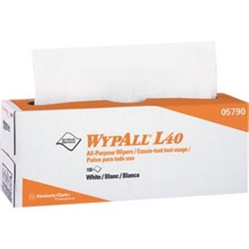"Wypall L40 Wipers, Pop-Up Box, 16.4"" x 9.8"" , White, 9 BX/100 EA"