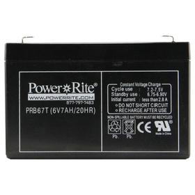 """Exit Sign Battery, 6""""x3.75""""x1.375"""", 6V, 7AH"""