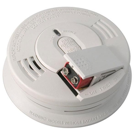 Hard-Wired Interconnect Ionization Smoke Alarm w/Battery Backup, 9V, Front Load