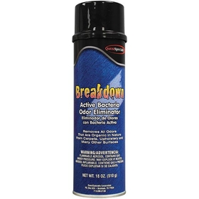 Breakdown Active Bacteria and Odor Eliminator, (12) 20 oz. Cans