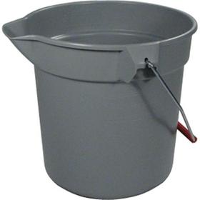 BRUTE Gray 10 qt Round Buckets
