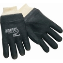 Memphis Industrial Grade Supported PVC Gloves, Single Dipped, Interlock Lined, Smooth Finish, & Knit Wrists