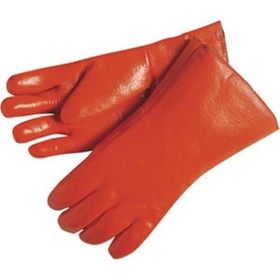 "Double Dipped Sandy Finish, Foam Lined and Fully Coated PVC Gloves, PVC, Single Dipped, 12"" Gauntlet"