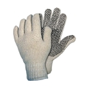 Memphis Economy-Weight PVC Coated String Knit Gloves, Single-Side Dots