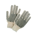Memphis Economy-Weight PVC Coated String Knit Gloves, Dual-Sided Dots