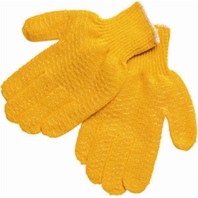 Heavy Wt. Honey Grip Gloves, Cotton/Polyester Honey Grip, Large