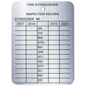 Metal 4 Year Inspection Tag, 2011-2014