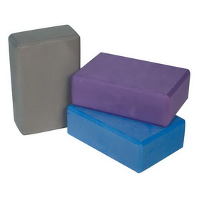 "Power Systems 83350 Yoga Block 3"" - Purple"