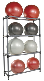 Power Systems 92482 Stability Ball Storage Rack - 8 Ball Rack - Black/Gray