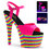 "Pleaser ADORE-709RBS - 7"" Heel, 2 3/4"" Pf Ankle Strap Sandal, Neon Uv Reactive"