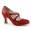 "Pin Up Couture FLAPPER-35 3"" Kitten Heel  Kitten Heel Round Toe Criss-Cross Mary Jane Pump"