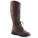 """Funtasma GOTHAM-103 - 1 1/2"""" Flat Heel Men'S Pull-On Knee High Boot with Front Lace"""