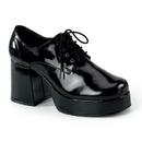 """Funtasma JAZZ-02 - 3 1/2"""" Heel Men Black Pat Disco Platform Shoes"""