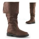 """Funtasma ROBINHOOD-100 - 1"""" Flat Heel, Cuffed Knee High Renaissance Boot, Side Zip"""