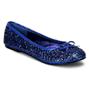 Funtasma STAR-16G - Adult Ballet Glitter Flat With Bow Accent, Fanatsy , Fairy