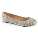 Fabulicious TREAT-06 - Round Toe Ballet Flat Embellished W/Rs