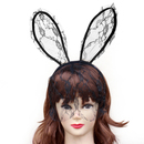 TopTie Bunny Headwear Lace Veil Rabbit Headband Hair Accessory Bunny Costume
