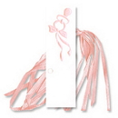 FAVOR TAGS PINK PACIFIERS W/RIBBON