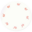 FAVOR TULLE 9IN. ROUND W/PINK BUGGY