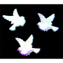 IRIDESCENT DOVE PLAQUE - 1 INCH