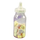 WHITE TOPPED 5 INCH FILLABLE BOTTLE