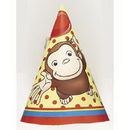 CURIOUS GEORGE ANIMATED PARTY HATS