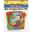 CURIOUS GEORGE ANIMATED JOINTED BANNER