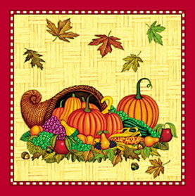 COUNTRY HARVEST BEVERAGE NAPKINS(24/PKG)