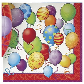BIRTHDAY BALLOONS LUNCHEON NAPKIN