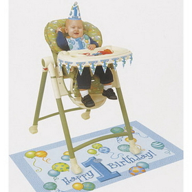 FIRST BIRTHDAY BOY HIGH CHAIR KIT