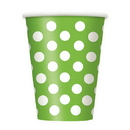 Lime Green Dots 12Oz Cups