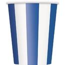 Partypro 38016 Royal Blue Stripe Cups