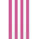 Partypro 38020 Discontinued Hot Pink Stripe Guest Towel