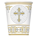 43866 Gold Silver Cross Hot-Cold Cup