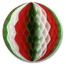 RED WHITE GREEN TISSUE BALL 12 INCH