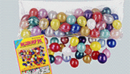 BALLOON BAG W/100 BALLOONS (36IN.X80IN.)