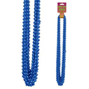 BLUE SMALL ROUND BLUE PARTY BEADS 12/CT