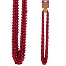 RED SMALL ROUND PARTY BEADS 12/CT