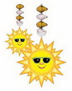 SUNBURST DANGLING DECORATION (30IN.)