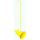 MEGAPHONE W/BEADS YELLOW