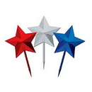 RED SILVER BLUE STAR PICK (3IN.)