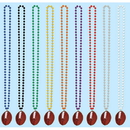 BEADS W/FOOTBALL MEDALLION - GOLD