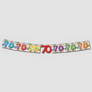 70TH BIRTHDAY EXPLOSION JOINTED BANNER