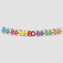 80TH BIRTHDAY EXPLOSION JOINTED BANNER