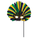 Feathered Mask Stick-Yellow-Green-Purple