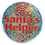 SANTA HELPER BUTTON (3.5 IN.)