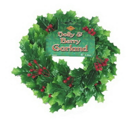 HOLLY & BERRY GARLAND (6')