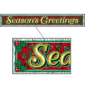 SEASON'S GREETINGS FRINGE BANNER
