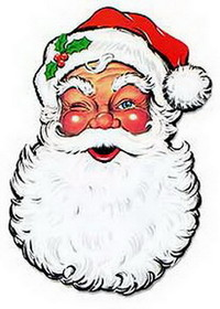 SANTA FACE DECORATION (26IN.) *